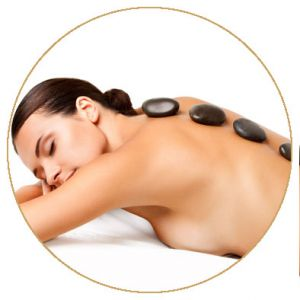 hot stone masáž